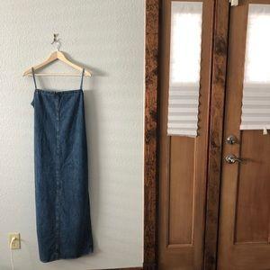 90s Vintage Denim Jean Dress Jones Jeans